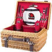 Champion Picnic Basket - Red (Miami University (Ohio) Redhawks) Digital Print