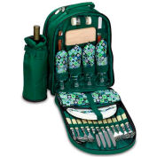 Picnic Time Sorrento Picnic Backpack, Hunter Green