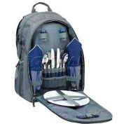 Picnic Time Escape Picnic Backpack, Gray/Navy