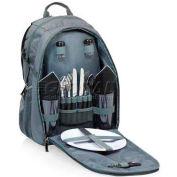 Picnic Time Escape Picnic Backpack, Gray/Black