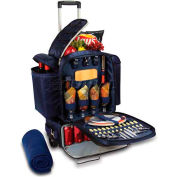 Picnic Time Excursion Picnic Tote On Wheels, Navy