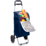 Picnic Time Cart Cooler On Wheels, Navy