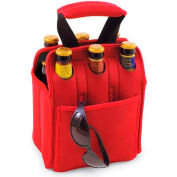 Picnic Time Six Pack Cooler Tote, Red