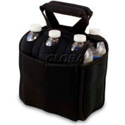 Picnic Time Six Pack Cooler Tote, Black