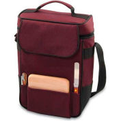 Picnic Time Duet Wine and Cheese Tote, Burgundy