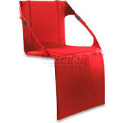 "Picnic Time Stadium Seat 627-00-100-000-0, 17""W X 15""D X 3""H, Red"