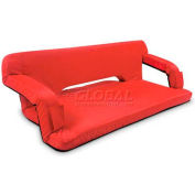 "Picnic Time Reflex Travel Couch 628-00-100-000-0, 43.5""W X 28""D X 3""H, Red"