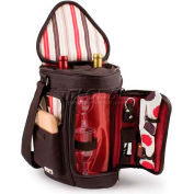 Picnic Time Meritage Wine and Cheese Tote, Moka