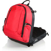 Picnic Time Navigator Stadium Seat & Cooler Backpack Red/Black