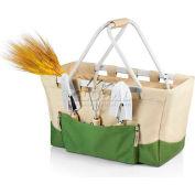 Picnic Time Garden Metro Basket, Tan/Olive Green