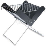 Picnic Time V-Grill Folding Portable Charcoal BBQ Grill with Carry Tote