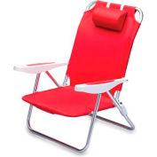 """Picnic Time Monaco Beach Chair 790-00-100-000-0, 25""""W X 23""""D X 34""""H, Red"""