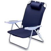 "Picnic Time Monaco Beach Chair 790-00-138-000-0, 25""W X 23""D X 34""H, Navy"