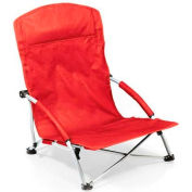 "Picnic Time Tranquility Chair 792-00-100-000-0, 25.4""W X 21.7""D X 25.1""H, Red"