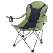 "Picnic Time Reclining Camp Chair 803-00-130-000-0, 36""W X 33""D X 42""H, Sage Green and Dark Gray"