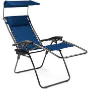 """Picnic Time Serenity Lounge Chair 805-00-138-000-0, 26""""W X 5.75""""D X 37""""H, Navy/Slate"""