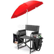 "Picnic Time Fusion Chair 807-00-679-000-0, 33""W X 24""D X 18.5""H, Dark Gray with Black"
