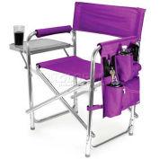 """Picnic Time Sports Chair 809-00-101-000-0, 19""""W X 4.25""""D X 33.25""""H, Purple"""