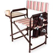 """Picnic Time Sports Chair - Moka 809-00-777-000-0, 19""""W X 4.25""""D X 33.25""""H, Moka Collection"""