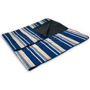 Picnic Time Blanket Tote, Blue Stripes
