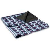 Picnic Time Blanket Tote, Black Plaid/Black