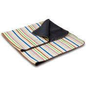 Picnic Time Blanket Tote, Lattice Stripes/Brown