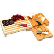 Picnic Time Old Glory Cutting Board with Cheese Tools