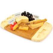 Picnic Time Delio Cutting Board with Cheese Tools