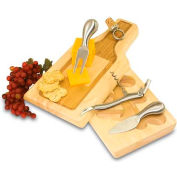 Picnic Time Silhouette Cutting Board with Cheese Tools