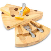 Picnic Time Swiss Cutting Board with Cheese Tools