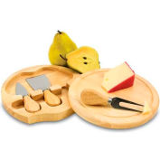 Picnic Time Brie Cutting Board with Cheese Tools