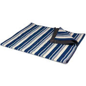 Picnic Time Blanket XL Tote, Blue Stripes