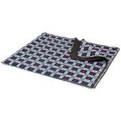 Picnic Time Blanket XL Tote, Black Plaid