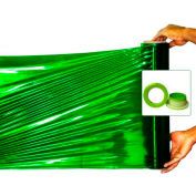 "Green Shrink Hand Stretch Wrap Film w Green Hand Saver 1000' L x 18"" W, 100 Ga, 2 Cases, 8 Rolls"