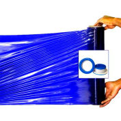"Blue Shrink Hand Stretch Wrap Film w Blue Hand Saver 1000' L x 18"" W, 100 Ga, 2 Cases, 8 Rolls"