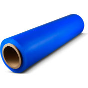 "Blue Hand Stretch Wrap 80 Gauge, 8 Rolls, 18"" W X 1500' L"