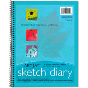 "Pacon® Art1st Sketch Diary 4794, 8-1/2"" x 11"", White, 70 Sheets/Pad"
