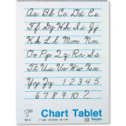 "Pacon® Chart Tablets w/Cursive Cvr 74610, 24"" x 32"", White, 25 Sheets/Pack"