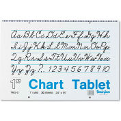 "Pacon® Chart Tablets w/Cursive Cvr 74630, 16"" x 24"", White, 30 Sheets"