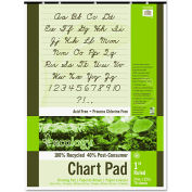 "Pacon® S.A.V.E Recycled Chart Pads 945610, 1"" Ruled, 24"" x 32"", White, 70 Sheets"