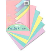 """Pacon® Array Pastel Heavyweight Card Stock Paper, 8-1/2"""" x 11"""", 65 lb, Assorted, 100 Sheets/Pk"""