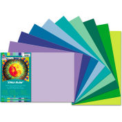 Pacon® Tru-Ray Construction Paper, 76 lbs., 12 x 18, Cool Assorted, 25 Sheets/Pack