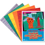 Pacon® Art Street Marble Construction Paper, 76 lbs., 9 x 12, Assorted, 50 Sheets/Pack