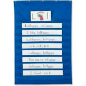 "Pacon® Standard Pocket Chart, 34"" x 50"", Blue"