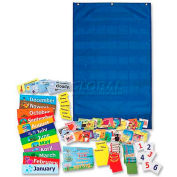 "Pacon® Calendar & Weather Pocket Chart, 23-3/4"" x 38"", Blue"