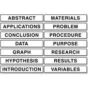 "Pacon® Presentation Board Subtitles, 1-1/2""W x 8-1/2""H, White, 14/Set"