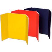 """Pacon® Tri-fold Presentation Foam Board, 48""""W x 36""""H, Assorted, 6/Carton"""