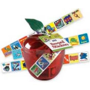 "Pacon® Plastic Apple Stickers, 1"" x 1"", 600 Stickers/Pack"