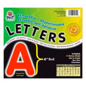 """Pacon® 4"""" Self-Adhesive Letters, Red, 78 Characters/Pack"""