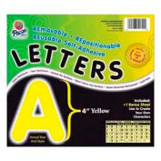 """Pacon® 4"""" Self-Adhesive Letters, Yellow, 78 Characters/Pack"""